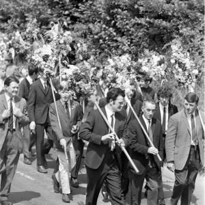 Men Taking Part in the Fownhope Flower Walk, 1969
