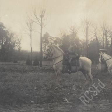 French Dragoons on Horseback