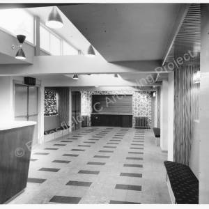 Newton Hall, tea lounge.