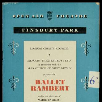 Finsbury Park Open Air Theatre, London, July 1952 - P01