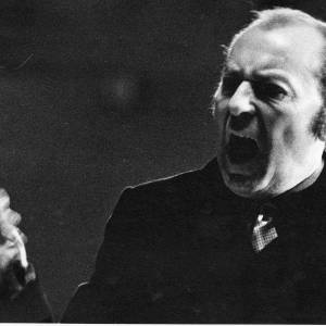 A conductor in full flow, 1960s