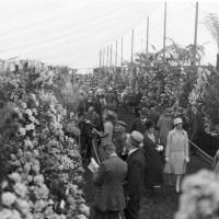 Visitors at the Southport Flower Show in 1929