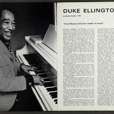 Duke Ellington Orchestra British Tour - October 1971 003