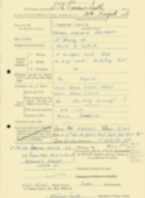 RMC Form 18A Personal Detail Sheets Feb & Sept 1933 Intake - page 264