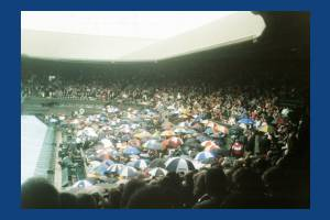 All England Lawn Tennis Club: Centre Court under cover due to rain