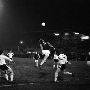 West Ham clear their lines v Hereford United, Feb 1972.