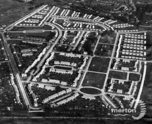 Pollards Hill Estate: Aerial View