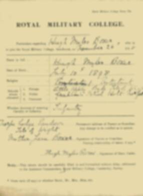 RMC Form 18A Personal Detail Sheets Nov 1915 Intake - page 9