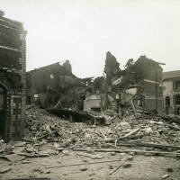 Albany Place, bomb damage, Blitz