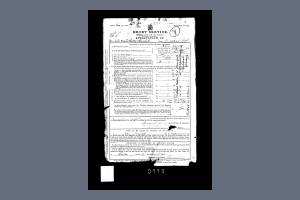 Service Attestation form from Service Records