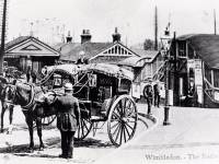 Hansom cabs at Wimbledon Station
