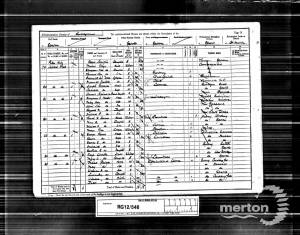 1891 Census for 83 Albert Road, Epsom