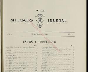 12th Lancers, 1928 October