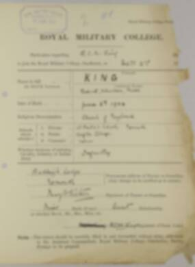 RMC Form 18A Personal Detail Sheets Feb & Sept 1922 Intake - page 82