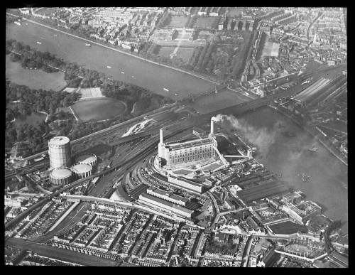 Aerial view of Battersea from south east