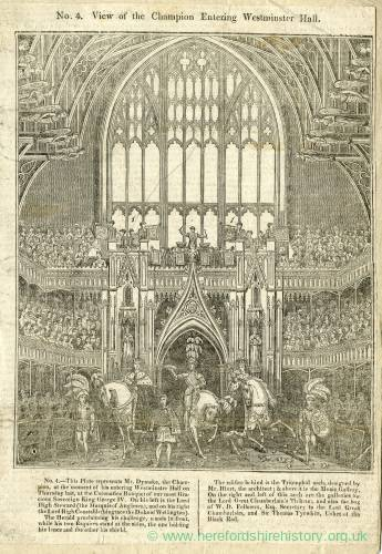 Westminster Hall, Mr Dymoke, the champion entering