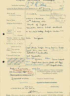 RMC Form 18A Personal Detail Sheets Feb & Sept 1933 Intake - page 171