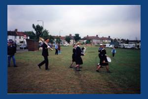 Mitcham Fair.The Mayor's procession at the opening of Mitcham Fair