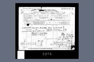 Service Records - Casualty Form for Private Richard Stenning