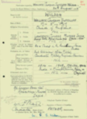 RMC Form 18A Personal Detail Sheets Aug 1935 Intake - page 223