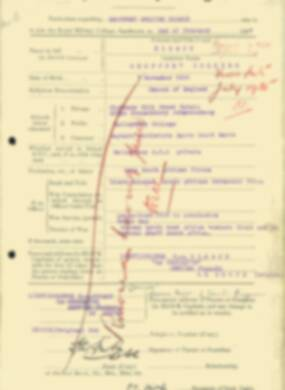 RMC Form 18A Personal Detail Sheets Aug 1934 Intake - page 107