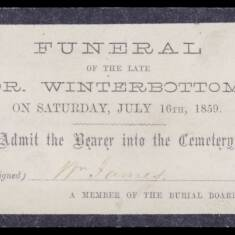 Funeral of Dr Winterbottom
