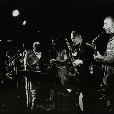 John Etheridge, Norma Winstone, Henry Lowther, Don Rendell and Jimmy Hastings (left to right)