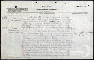War Diary (1) for 2nd Battalion, Royal Sussex Regiment - Twyman
