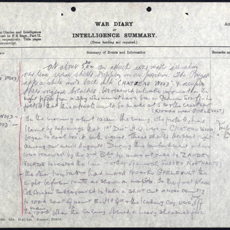 War Diary (1) for 2nd Battalion, Royal Sussex Regiment - Twyman