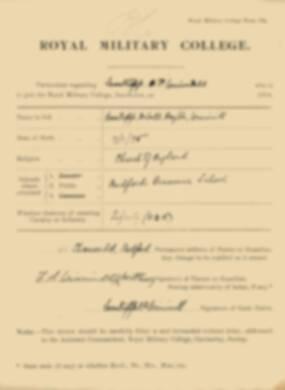 RMC Form 18A Personal Detail Sheets Jan 1915 Intake - page 379