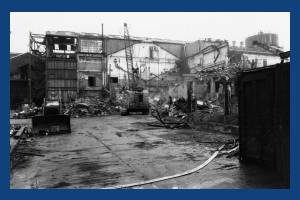 Merton Board Mills – demolition in progress