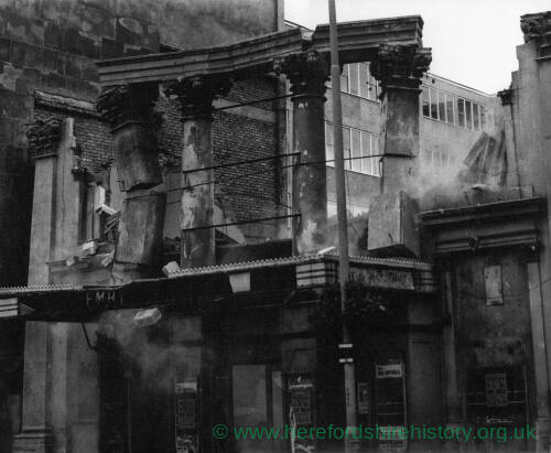 022 - Demolition of Kemble Theatre, Hereford 1963.