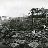 Carolina Street goods warehouse, bomb damage, Blitz