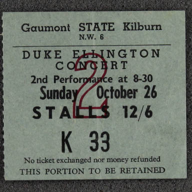 Duke Ellington Concert Ticket 1958 0001