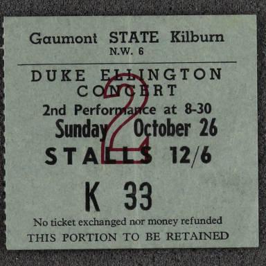 Duke Ellington Concert Ticket 1958 0001
