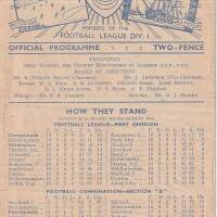 19481002 Official Programme Newcastle United Home