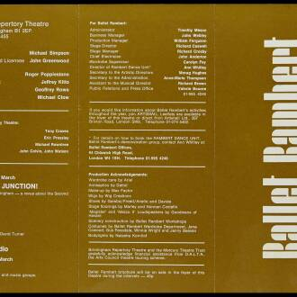 Birmingham Repertory Theatre, February 1973