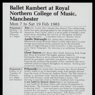 Northern College of Music, Manchester, February 1983