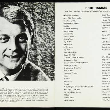 The Syd Lawrence Orchestra, Music in the Glenn Miller Mood, Fairfield Hall, Croydon - 1970 005