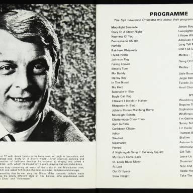 The Syd Lawrence Orchestra, Music in the Glenn Miller Mood, Fairfield Hall, Croydon - 1970 005