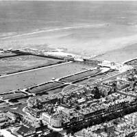 Southport, pier, aerial, 1930