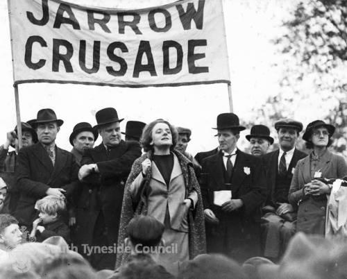 Speakers at Jarrow Crusade