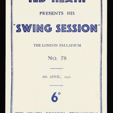 The London Palladium. Ted Heath presents his Swing Session