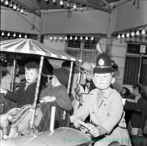 Children's ride Hereford May Fair in 1965
