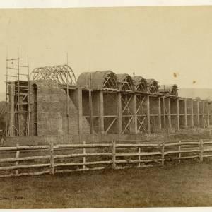 Ledbury Viaduct construction - Arch formers in situ