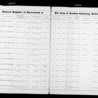 Burial Register 59 - October 1904 to February 1906