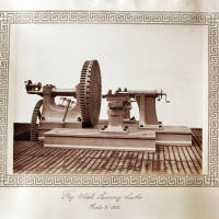 Fly wheel turning lathe