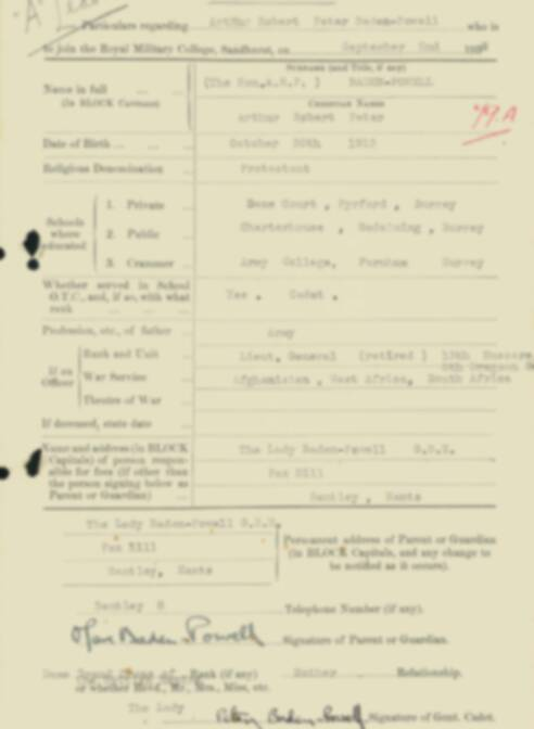 RMC Form 18A Personal Detail Sheets Feb & Sept 1933 Intake - page 7