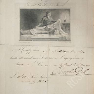 Lectures on Surgery, Theatre of Anatomy