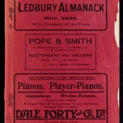 Tilley's Ledbury Almanack 1931